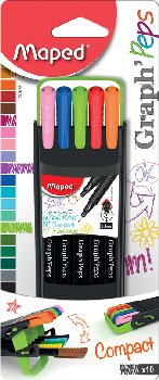 Graph'Peps Fine Point Markers .4 mm (10 Colors)