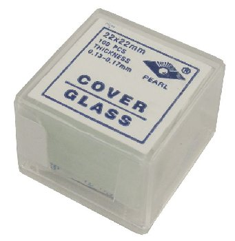 Cover Glass 22x22MM, no.1 thickness, 100pk