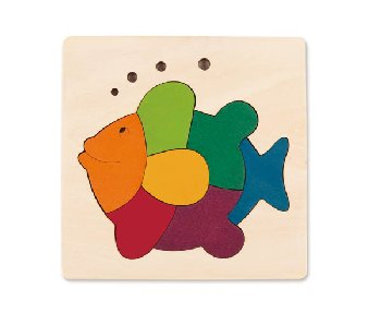 George Luck Rainbow Fish Wood Puzzle (8 Pieces)