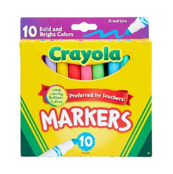 Crayola Broad Line Markers Assorted 10 Count