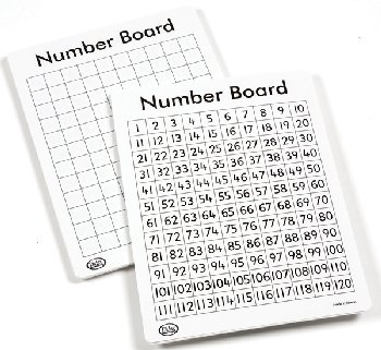 "Write-On/Wipe-Off 120 Number Mat (11"" x 13"")"