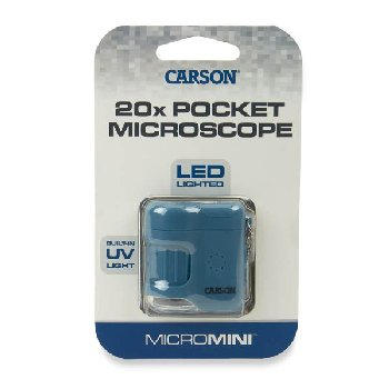 MicroMini 20x LED Pocket Microscope - Blue