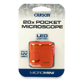 MicroMini 20x LED Pocket Microscope - Orange