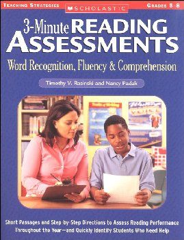 3-Minute Reading Assessments Gr. 5-8