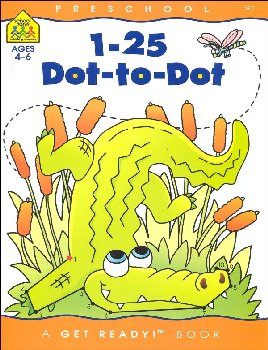 1-25 Dot-to-Dot Get Ready! Workbook