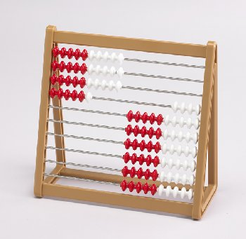 Abacus (red/white beads)