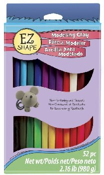EZ Shape Modeling Clay 52 Piece Variety Pack