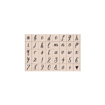 Casual Letters & Numbers Stamp in a Wooden Box