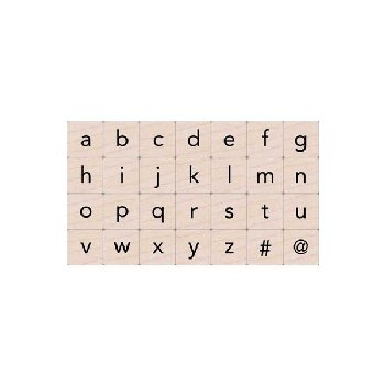 Essential Lowercase Letters Stamp