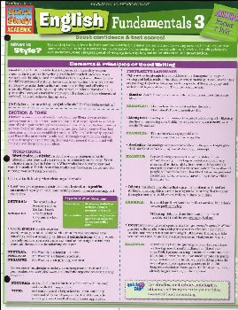 English Fundamentals 3 Laminated Guide