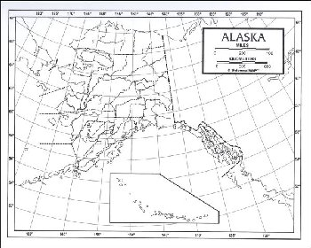 "Alaska Map Laminated single (8+"" x 11"")"