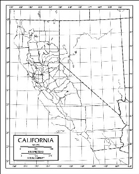 "California Map Paper single (8+"" x 11"")"