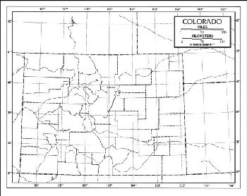 "Colorado Map Laminated single (8+"" x 11"")"