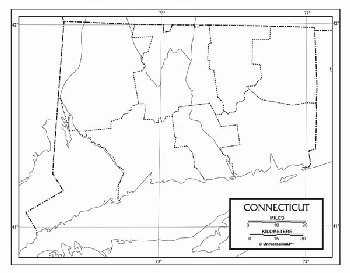 "Connecticut Map Paper single (8+"" x 11"")"