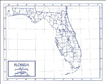 "Florida Map Laminated single (8+"" x 11"")"