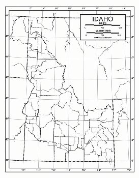 "Idaho Map Paper single (8+"" x 11"")"