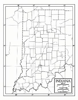 "Indiana Map Paper single (8+"" x 11"")"
