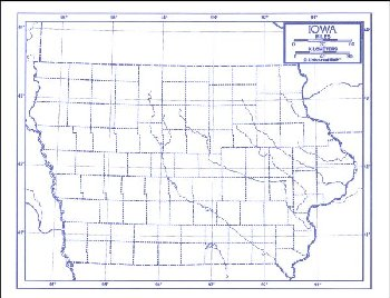 "Iowa Map Paper single (8+"" x 11"")"