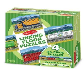 Trains Linking Floor Puzzle (96 Pieces)