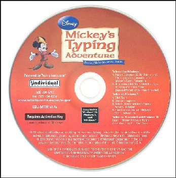 Mickey's Typing Adventure CD-ROM in paper sleeve