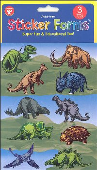 Dinosaur Stickers (3 Sheets)