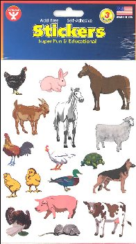 Farm Animal Stickers (3 Sheets)