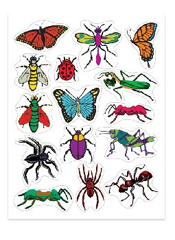 Insect Stickers (3 Sheets)