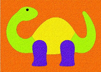 Dinosaur Crepe Rubber Puzzle (5 pieces)