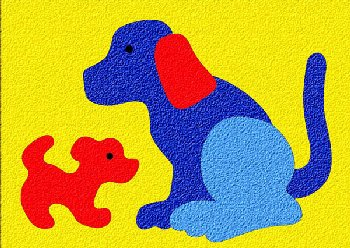 Dog & Puppy Crepe Rubber Puzzle (5 pieces)