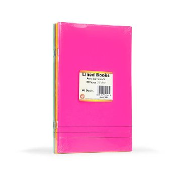 "Lined Blank Book - bright assorted colors (5.5"" x 8.5"")"