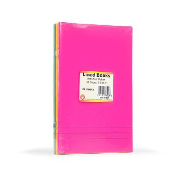 "Lined Blank Books - Bright Assorted Colors Package of 24 (5.5"" x 8.5"")"