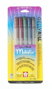 Gelly Roll Pen Set - Dark Metallic (5 pack)