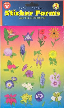Pretty Flowers Stickers (3 Sheets)