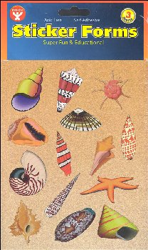 Sea Shell Stickers (3 Sheets)