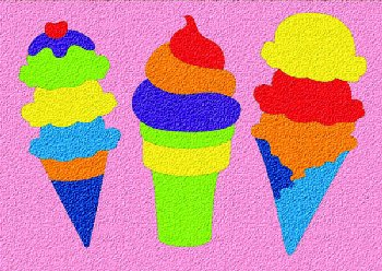 Ice Cream Crepe Rubber Puzzle (18 pieces)