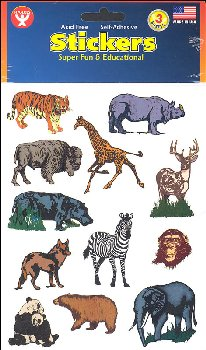 Wild Animal Stickers (3 Sheets)