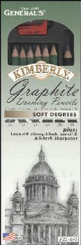 Kimberly Graphite Drawing Pencils (Soft Degrees)