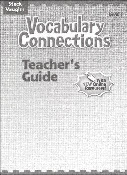 Vocabulary Connections - Level F Teacher Edition