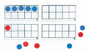 Demo Magnetic Ten Frame With Counters Set