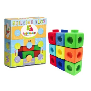 Rubbablox Building Blocks (Set of 9)