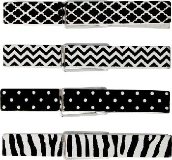 Black & White Clothespins (20 per pack)