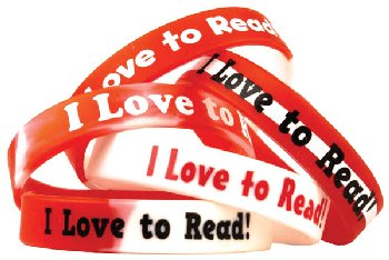 I Love to Read Wristband