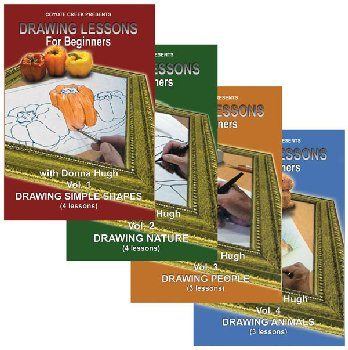 Drawing lessons for Beginners DVD Series - Volumes 1-4