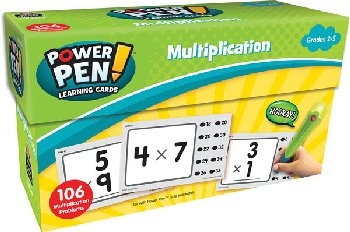 Power Pen Learning Cards: Multiplication