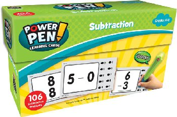 Power Pen Learning Cards: Subtraction