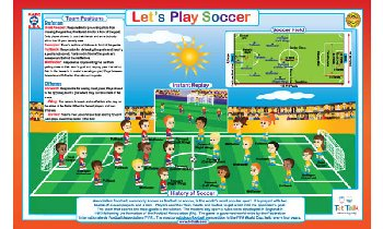 Let's Play Soccer Placemat