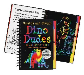 Dino Dudes Trace-Along Scratch and Sketch Activity Book