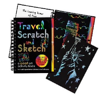 Travel Scratch and Sketch Activity Book
