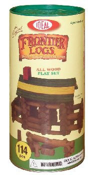 Frontier Logs Building Set in Canister (114 Pieces)