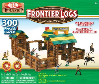 Frontier Logs Building Set with Action Figures (300 Pieces)